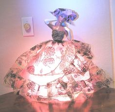 Antique Half Doll Lamp Beautiful Southern Belle Large by luvintage, $290.00