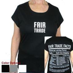 Fair Trade Tee Shirt with Cap Sleeve - Freeset