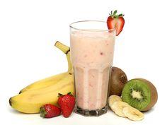 Strawberry Kiwi Smoothie Recipe - Zesty Smoothie with Orange Juice Strawberry Kiwi Smoothie, Smoothie Recipes With Yogurt, Weight Loss Smoothie Recipes, Yogurt Smoothies, Healthy Breakfast Smoothies, Smoothie Drinks, Healthy Drinks, Eat Healthy, Vegetarian Smoothies