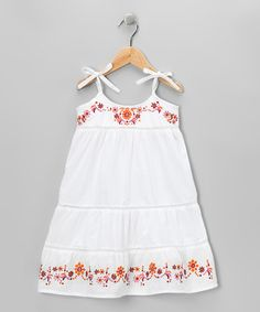 Take a look at this White Floral Embroidered Dress - Toddler & Girls by Luv2Luv Kidz on #zulily today!