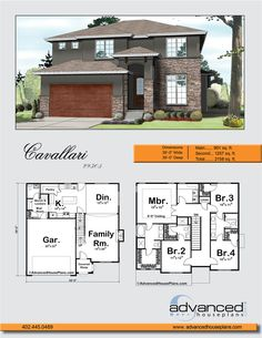 Cavallari | Mediterranean 2 Story by Advanced House Plans