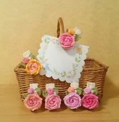 小さなお花モチーフのウッドクリップ(6個セット)④画像1