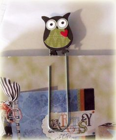 Owl bookmark - Great for back to school!