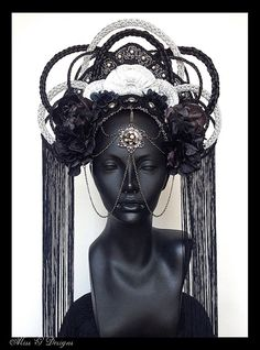 MADE TO ORDER  Dark Empress Headdress