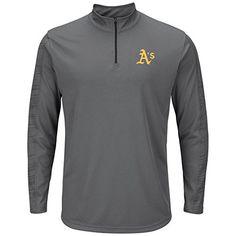 MLB Oakland Athletics Men's Laser-Like Focus Tops, Storm Gray-Black, Large - http://www.exercisejoy.com/mlb-oakland-athletics-mens-laser-like-focus-tops-storm-gray-black-large/athletic-clothing/