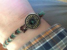 Homemade friendship bracelet.