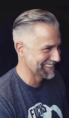 Hair Styles For Men Handsome Gray Haired Silver Fox. Mens Hairstyles Pompadour, Older Mens Hairstyles, Pompadour Fade, Haircuts For Men, Latest Hairstyles, Men's Hairstyle, Medium Hairstyles, Wedding Hairstyles, Silver Hair Men