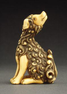 18th century dog netsuke | LACMA Collections