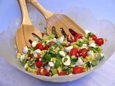caprese salad with corn and avocado - my new go-to summer salad!