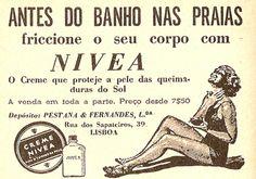 Nivea   1954 Vintage Advertisements, Vintage Ads, Vintage Images, Vintage Scrapbook, Vintage Postcards, History Of Portugal, Nostalgia, Advertising History, Old Commercials
