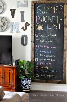 Chalkboard Summer Bucket List