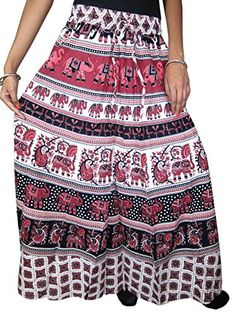 Maxi Skirt , Pink Elephants , Cotton Indian Skirts, Vegetables Dyes, Ethnic Chic Mogul Interior http://www.amazon.com/dp/B00X5I1DL4/ref=cm_sw_r_pi_dp_V9Fsvb17TWEPH