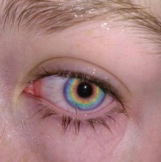 eyes, aesthetic, and rainbow image