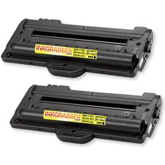 InkGrabber.com TWIN PACK - Remanufactured Samsung (ML-1710D3) Black Laser Toner Cartridges (Samsung ML 1510, Samsung ML 1710, Samsung ML 1740, Samsung ML 1750, Samsung ML 1500, Samsung ML 1510B, Samsung ML 1520, Samsung ML 1710B, Samsung ML 1710D, Samsung ML 1710P, Samsung ML 1755) Printer Cartridge, Laser Toner Cartridge, Ink Toner, Twins, Samsung, Color, Black, Gemini, Black People