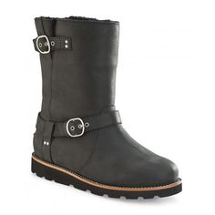 66642cdc87a UGG Noira Womens Boot in Black Red Ugg Boots
