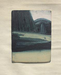 sean sullivan | landscape no. 3 oil on found paper