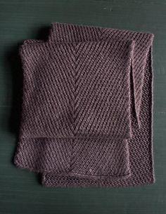 Ravelry: Diagonal Twist Scarf pattern by Purl Soho Knitting Stitches, Knitting Patterns Free, Knitting Yarn, Free Knitting, Free Pattern, Mens Scarf Knitting Pattern, Knitting Buttonholes, Purl Soho, How To Purl Knit