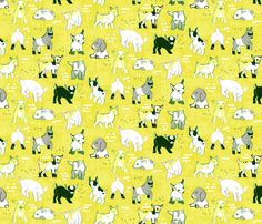 Baby Goats by Friztin fabric by friztin on Spoonflower - custom fabric