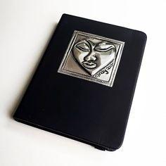 Instagram Heart, Heart Face, Pewter, Muse, Notebook, Metal, Handmade, Tin, Hand Made