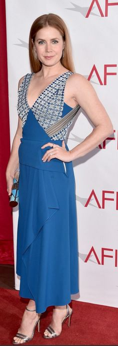 aeef945f1baa9 Amy Adams  Dress – Roland Mouret Shoes – Neil J. Rodgers Jewelry – Jennifer