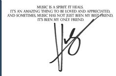 Hunter Hayes quote about music!