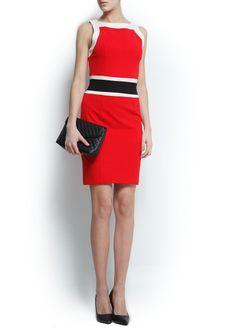 Colour block dress - classic 60s look