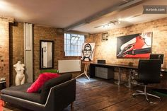 New York style apartment with exposed brickwork, open ceiling kitchen and three bedrooms