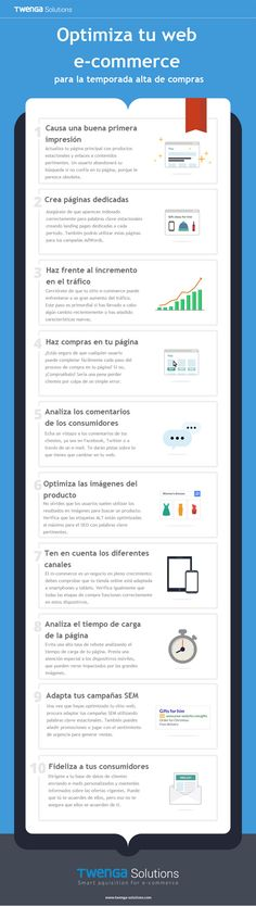 Infografía sobre optimizar web e-commerce.