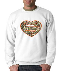 Crewneck Super Heart Long Sleeve Hunting from $15.99 at xpressiontees.etsy.com | #ExpressionTees