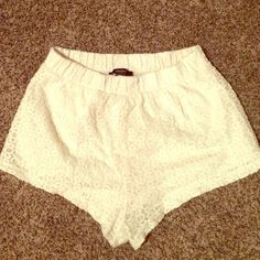 forever 21 lace essential shorts  Super cute! Bought a month ago!  Forever 21 Jackets & Coats