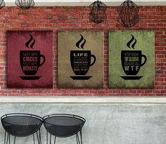 """Modern artwork inspirational and insightful quotes, unique custom designs in print, canvas wrap or a laminated plaque. Makes a unique gift for a special person! """"After Tuesday, the Calendar goes WTF"""" #humorous #witty #quote #coffeemug #walldecor #kitchenart #cubicle #coworker #giftidea"""