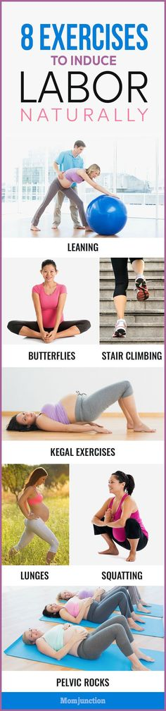 Here we bring you 8 effective exercises to induce labor naturally and will also surely help getting your body ready for the baby. #pregnancy