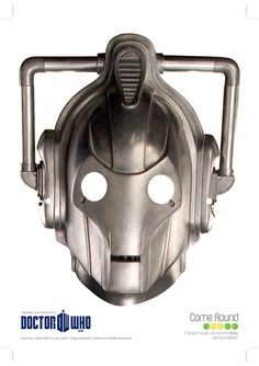 Free Doctor Who Cyberman Printable Mask Doctor Who Birthday, Doctor Who Party, Printable Masks, Free Printables, Printable Paper, Doctor Who Printable, Doctor Who Companions, Monster Mask, Oh My Fiesta