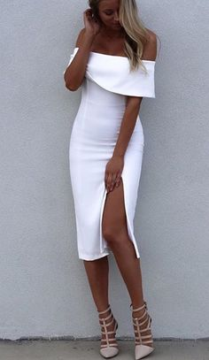 White Bodycon Dress Split Off-The-Shoulder Rayon Party Dress online fashion destination for dresses, tops, pants, swimwear, and more. Shop every trend online # Source by ootdfashionoutfits Bodycon Dresses Sexy Dresses, Cute Dresses, Beautiful Dresses, Short Dresses, Bandage Dresses, Midi Dresses, Party Dresses, Event Dresses, Prom Dress