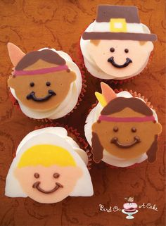 I thanksgiving cupcake   #thanksgiving #fall #table #turkey #crafts