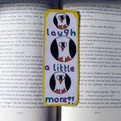 Laughing Penguins Bookmark, Penguin Bookmark, Penguin Lover Gifts, Bookmarks, Stocking Stuffers, Inspirational Bookmark, Affirmations by DivinitysDivineTouch on Etsy