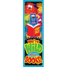 Furry Friends® We're Wild About Books! Bookmarks, T-12050