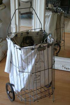 postal bag flea market cart