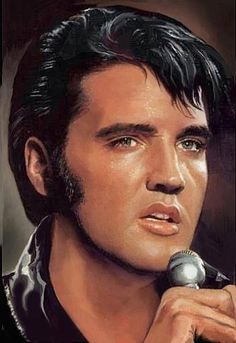 Elvis Presley -- Painted by Sara Lynn Sanders King Elvis Presley, Elvis And Priscilla, Elvis Presley Pictures, Portraits, Graceland, American Singers, My Idol, Movie Stars, Rock And Roll
