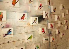 Birds. Spray paint and resin on canvas. Datsun Tran.