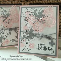 Love #gorgeousgrunge - such a simple stamp set for a card! http://www.bonniestamp.stampinup.net