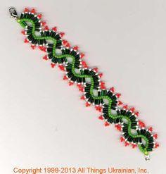 Ukrainian Gherdany Beadwork  # GBR13-032 handmade in Ukraine. Originally sold on http://www.allthingsukrainian.com/Jewelry/index.htm
