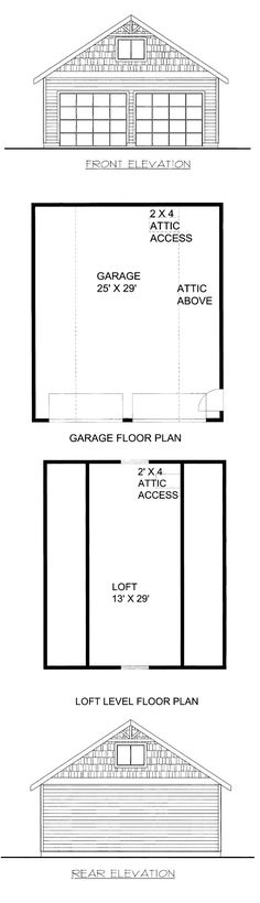 Plan 85807 Measures 26 Feet By 30 With 780 Square Of Garage E And A Loft 377 Gambrel Shed Plans