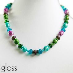 Gloss Short Strand. Elegant, bright, shimmery for Spring 2014. mommynecklaces.com
