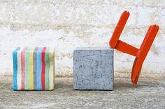 CUBOTTI JOY+CEMENT  stool in resin