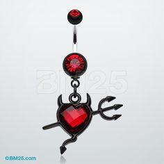 Cruela's Heart Belly Button Ring