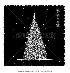 stock vector : Abstract christmas tree, card for your design