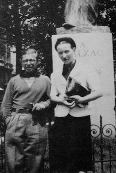Simone de Beauvoir & Jean - Paul Sartre { Paris, 1920's }