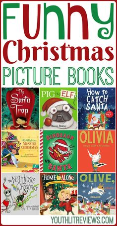 10 Funny Christmas Picture Books In my family, we can't get enough Christmas books. Today I'm sharing a selection of laugh-out-loud funny Christmas books that you won't be able to resist! These hysterical picture books Christmas Books For Kids, Childrens Christmas, Christmas Humor, Christmas Themes, Christmas Fun, Preschool Christmas, Christmas Cookies, Holiday Crafts, Holiday Ideas