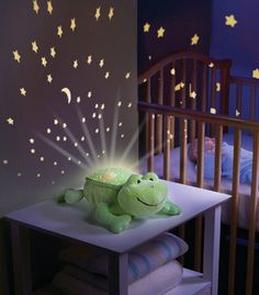 Baby Musical Cot Mobile Night Nursery Light Show Nightlight Pink Erfly Frog
